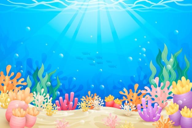 Fondo bajo el mar para videoconferencia.