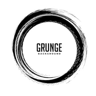 Fondo de marco abstracto grunge circular