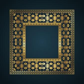 Fondo de marco de borde de estilo azteca