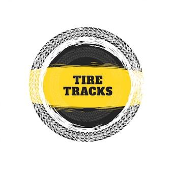 Fondo de marco circular de pistas de neumáticos