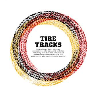 Fondo del marco del círculo de la pista del neumático