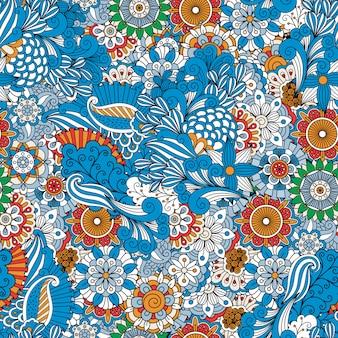 Fondo de marco completo hecho de diseños florales