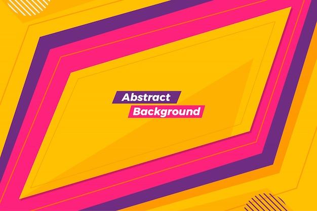 Fondo de marco creativo abstracto con estilo
