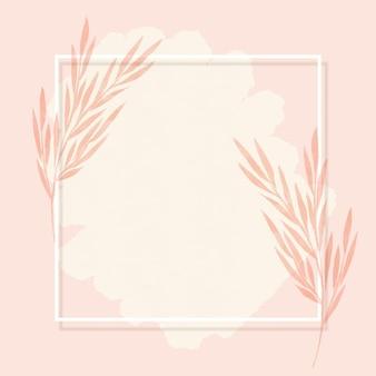 Fondo de marco elegante con diseño floral acuarela pintado a mano