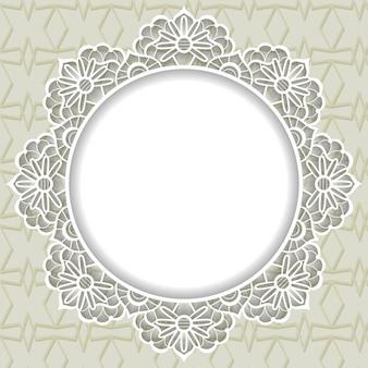 Fondo de marco de encaje ornamental