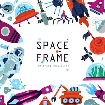 Fondo de marco de espacio plano