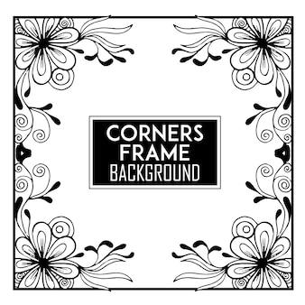 Fondo con marco con esquinas