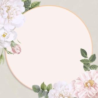 Fondo de marco de flor botánica decorada