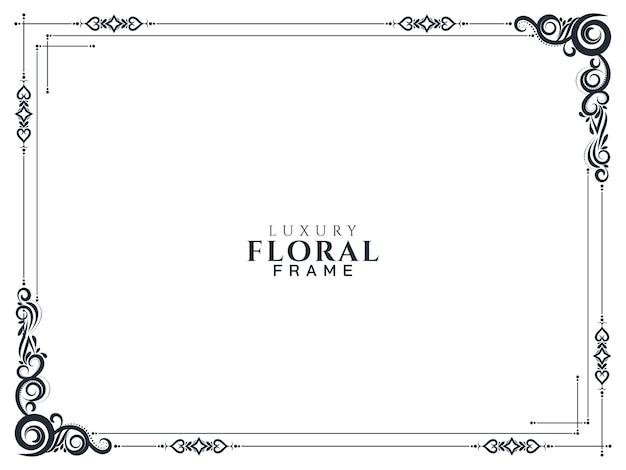 Fondo de marco floral abstracto