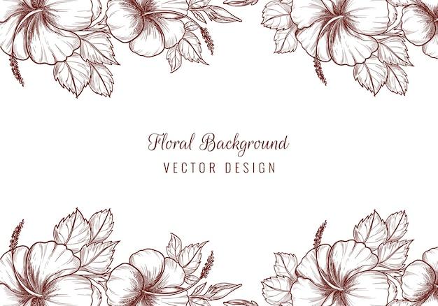 Fondo de marco floral de boda decorativa hermosa