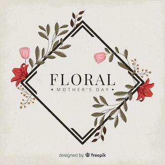 Fondo marco floral día de la madre