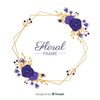 Fondo marco floral dibujado a mano