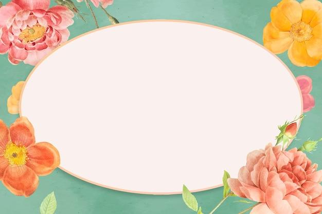 Fondo de marco de flores de colores
