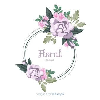 Fondo marco flores dibujado a mano