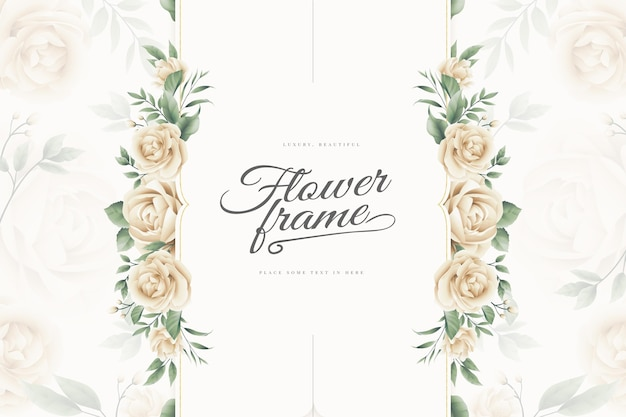 Fondo de marco de flores