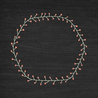 Fondo de marco de navidad hexagonal