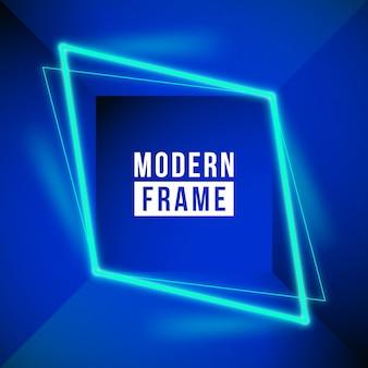 Fondo de marco de neón moderno