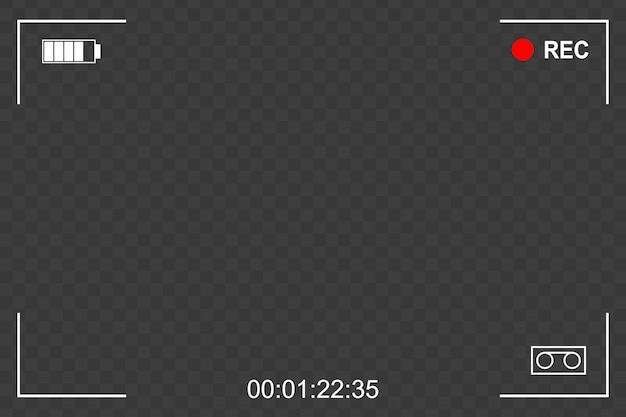 Fondo de marco de pantalla de enfoque de cámara