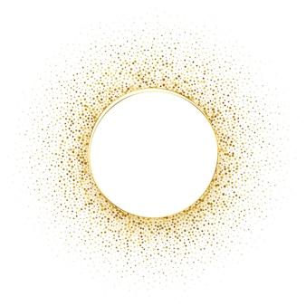 Fondo de marco de semitono dorado círculo