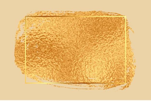 Fondo de marco vacío de textura de hoja de oro brillante