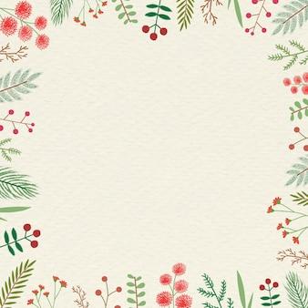 Fondo de marco vintage de navidad