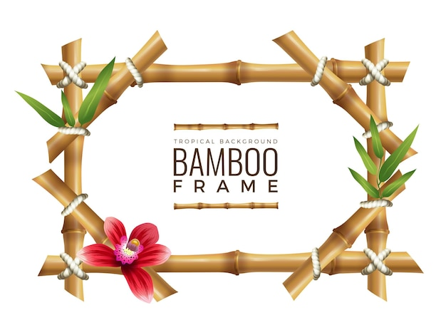 Fondo de marcos de bambú.