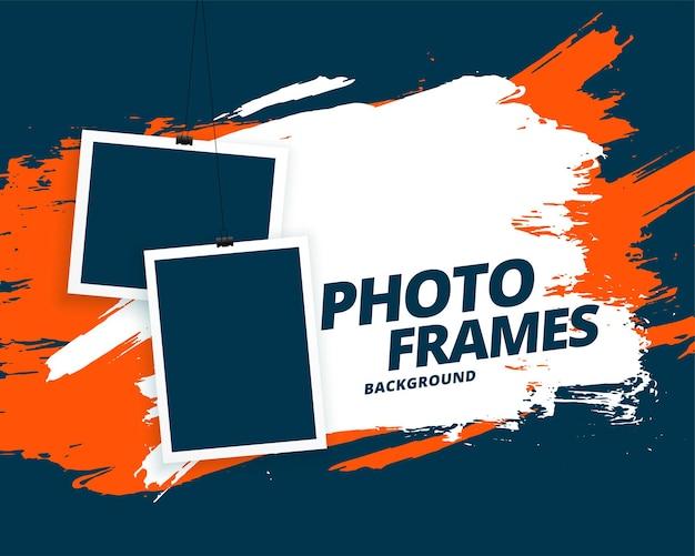 Fondo de marcos de fotos de estilo grunge abstracto