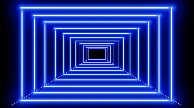Fondo de marcos de neón azul