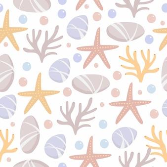 Fondo marino de patrones sin fisuras