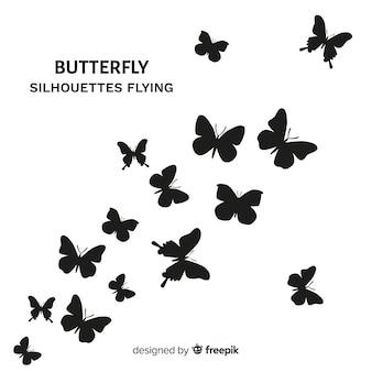 Fondo mariposas volando