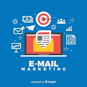 Fondo marketing correo electrónico