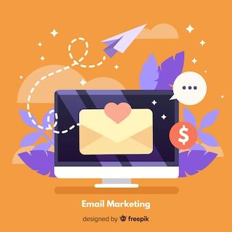 Fondo márketing correo electrónico