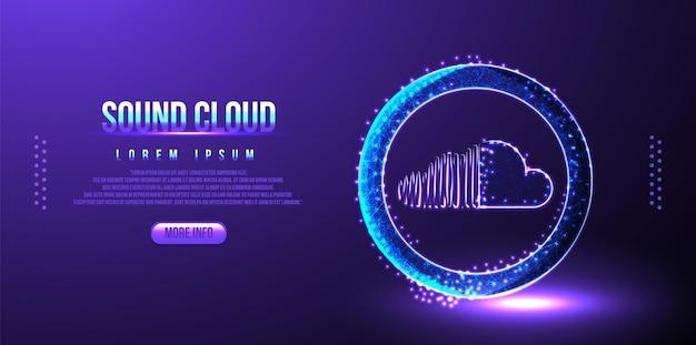 Fondo de marketing de redes sociales en la nube de sonido