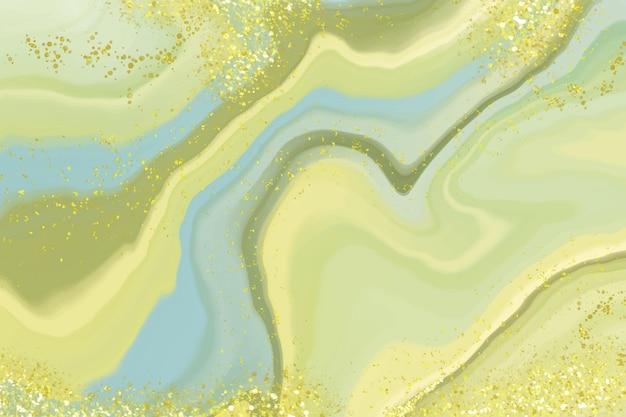 Fondo de mármol líquido realista con oro.