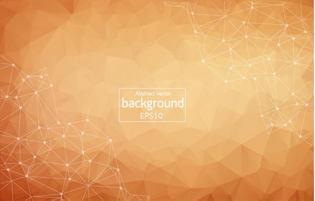 Fondo marrón abstracto poligonal geométrico