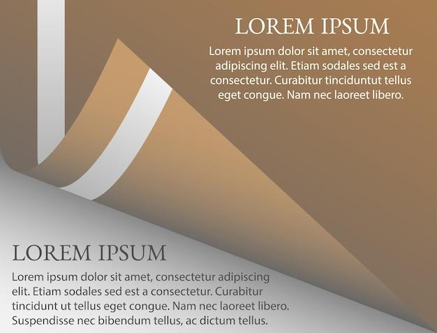 Fondo marrón con tema de papel enrollado