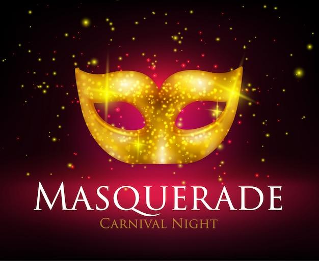 Fondo de máscara de mascarada