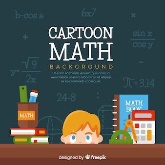 Fondo de matemática en dibujo animado