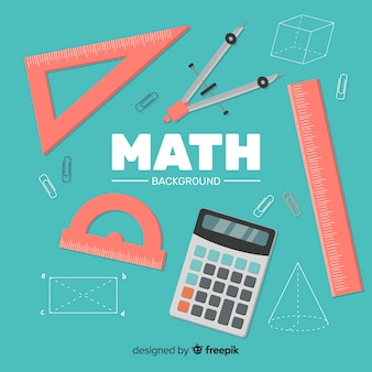 Fondo de matemática en estilo de dibujo animado