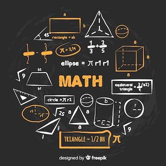 Fondo de matemática en estilo de pizarra