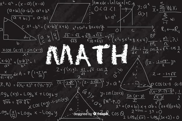 Fondo de matemática en pizarra