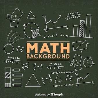 Fondo de matemáticas en la pizarra