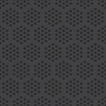 Fondo de material perforado de patrones sin fisuras