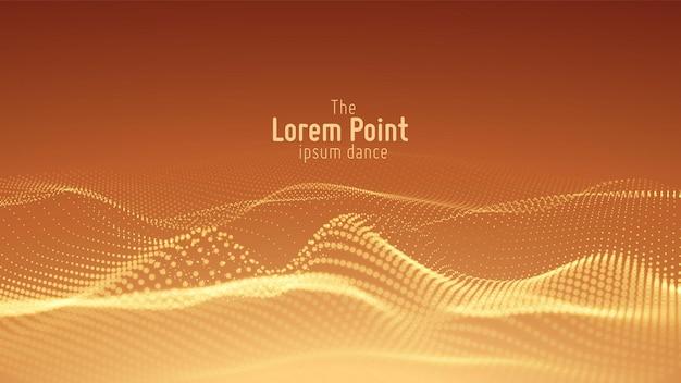 Fondo de matriz de puntos de onda de partículas abstractas