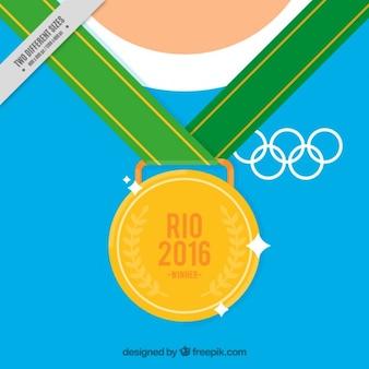 Fondo de una medalla dorada olímpica