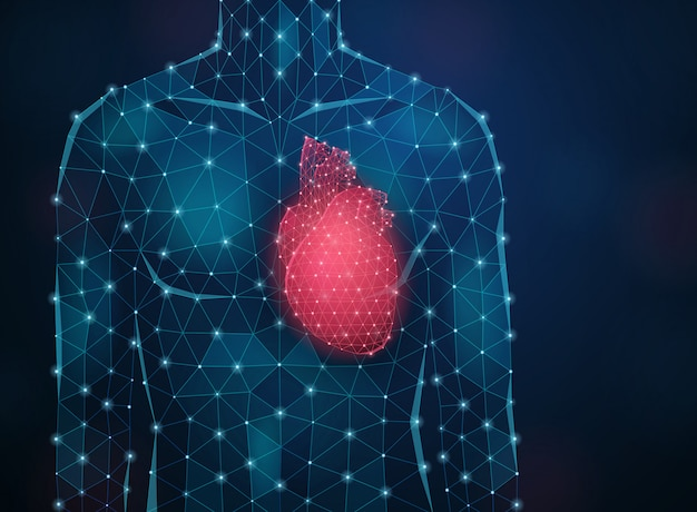 Fondo de medicina innovadora con ilustración realista de símbolos de investigación y ciencia moderna