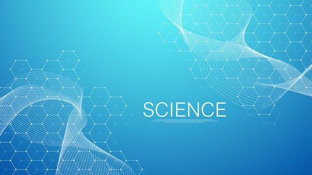 Fondo médico abstracto investigación de adn molécula genética genoma cadena de adn