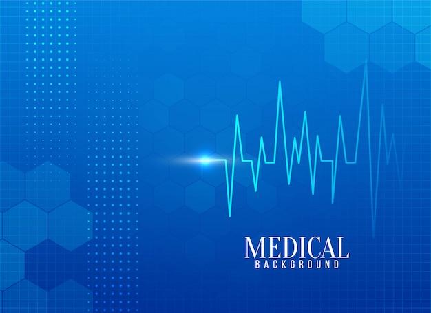 Fondo médico abstracto con línea de vida