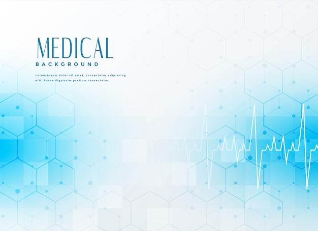 Fondo médico azul con estilo