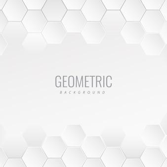 Fondo médico concepto geométrico blanco